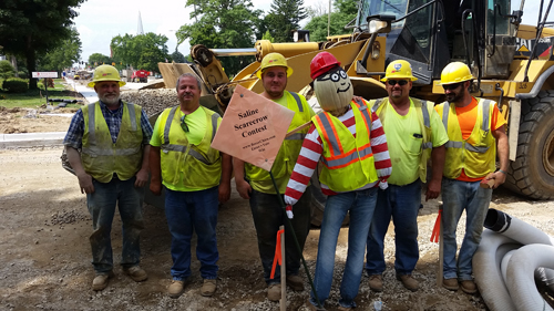 Waldo with Construction Crew