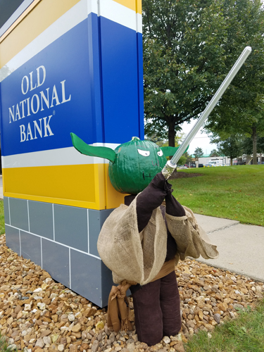 Yoda by Old National Bank - Entry #1 - Seventh Annual Saline Scarecrow Contest