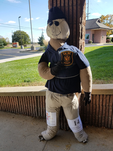 VIPS - Volunteers in Public Safety by The Saline Police Department - Entry #14 - Seventh Annual Saline Scarecrow Contest